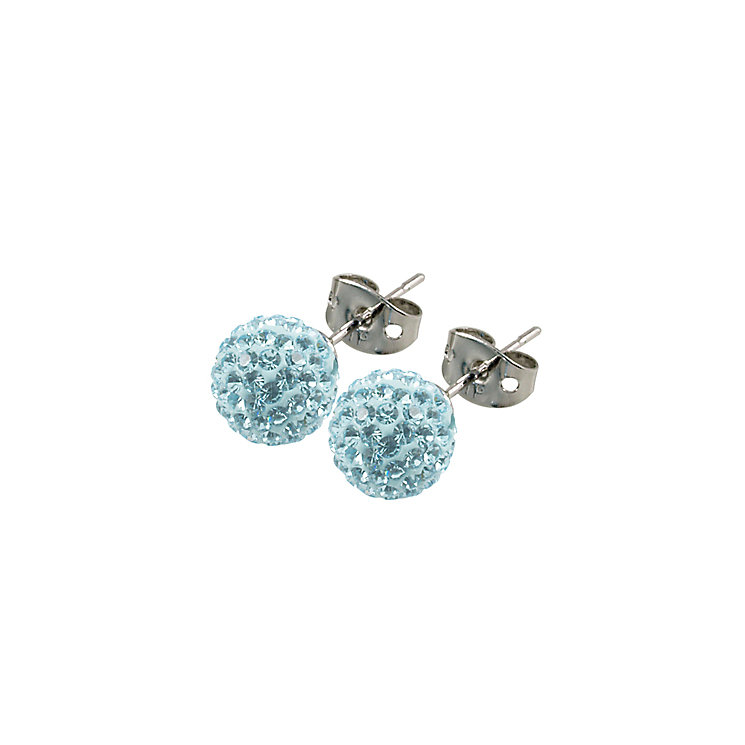 Tresor Paris Donnay 8mm blue crystal ball stud earrings - Product number 9545204