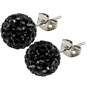 Tresor Paris Reel 10mm black crystal ball stud earrings - Product number 9545239
