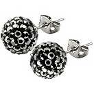 Tresor Paris Bissey 10mm grey crystal ball stud earrings - Product number 9545247