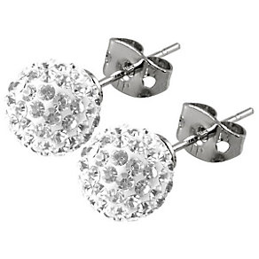 Tresor Paris Tassilly 10mm white crystal ball stud earrings - Product number 9545255