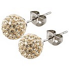 Tresor Paris Cramenil 10mm gold crystal ball stud earrings - Product number 9545263