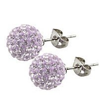 Tresor Paris Lilas 10mm lilac crystal ball stud earrings - Product number 9545271