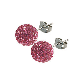Tresor Paris Proussy 10mm pink crystal ball stud earrings - Product number 9545298