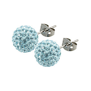 Tresor Paris Donnay 10mm blue crystal ball stud earrings - Product number 9545301