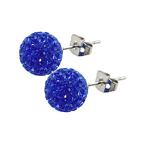 Tresor Paris Rabodanges 10mm blue crystal ball stud earrings - Product number 9545328