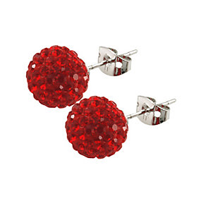 Tresor Paris Saint Remy 10mm red crystal ball stud earrings - Product number 9545336