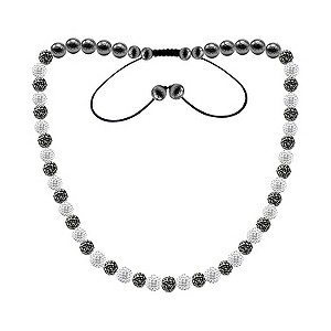 Tresor Paris Roubaix white & grey crystal beaded necklace - Product number 9545573