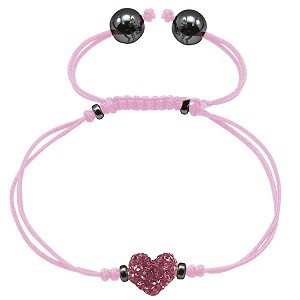 Exclusive Tresor Paris pink heart crystal bracelet - Product number 9545581