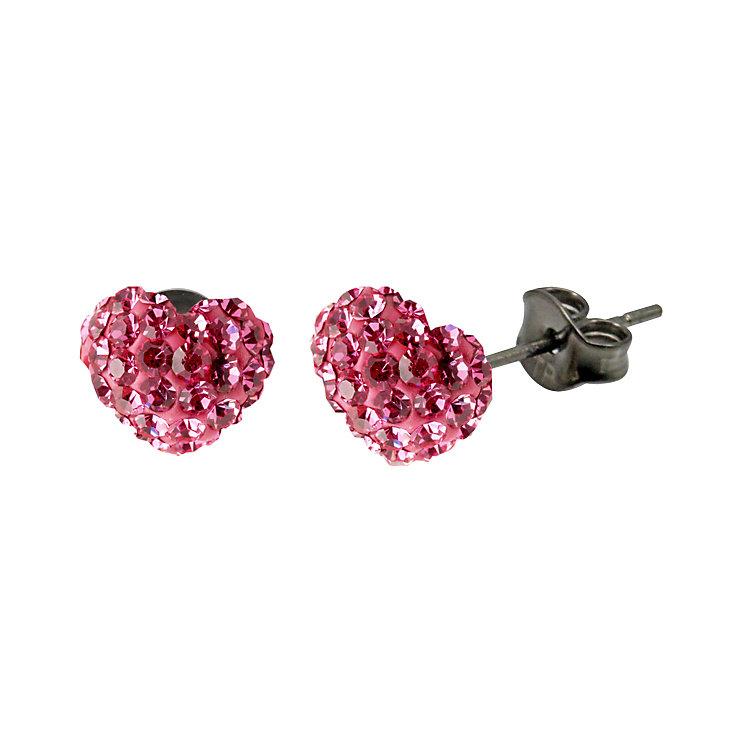 Tresor Paris Pink Heart Stud Earrings - Product number 9545638