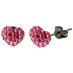 Tresor Paris Pink Heart Stud Earrings - Product number 9545638
