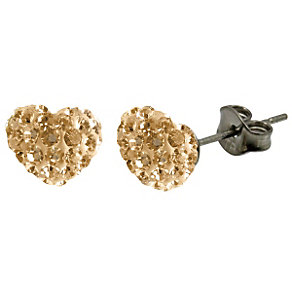 Tresor Paris Gold Heart Stud Earrings - Product number 9545646