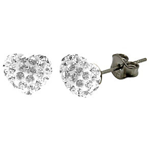 Tresor Paris white heart stud earrings - Product number 9545654