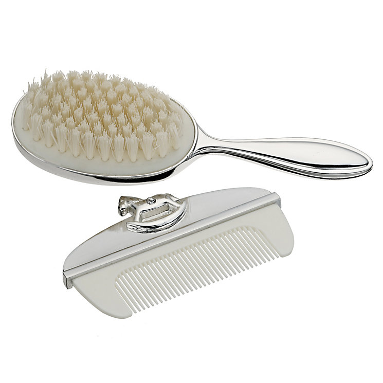 Silver-plated ornamental brush & comb set - Product number 9550178