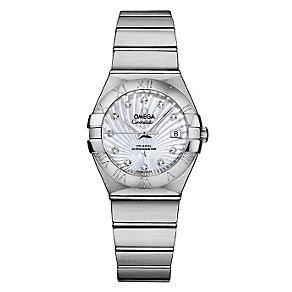 Omega Constellation ladies' steel diamond bracelet watch - Product number 9552065