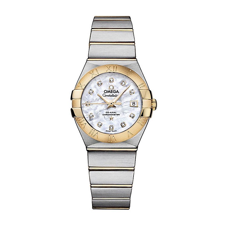 Omega Constellation ladies' two colour bracelet watch - Product number 9552073