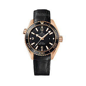 Omega Seamaster ladies' 18ct rose gold strap watch - Product number 9552154