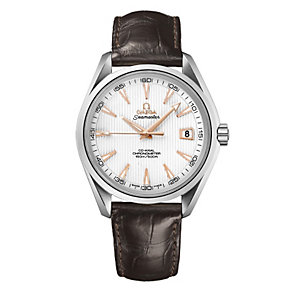 Omega Seamaster men's brown strap watch - Product number 9552170