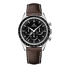 Omega Speedmaster men's stainless steel brown strap watch - Product number 9552200