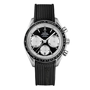 Omega Speedmaster men's black strap watch - Product number 9552235