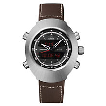 Omega Spacemaster Z-33 men's titanium brown strap watch - Product number 9552243