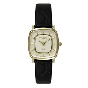 Rotary Ladies' Black Leather Strap Watch - Product number 9552529