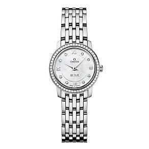 Omega De Ville ladies' steel diamond bracelet watch - Product number 9552553