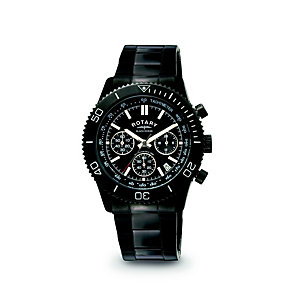 Rotary Men's Black Chronograph Bracelet Watch - Product number 9552871