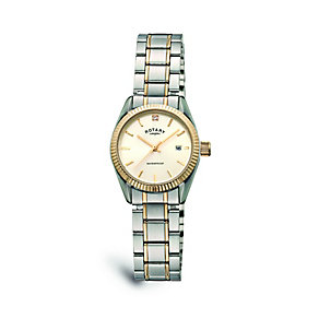 Rotary Ladies' Stainless Steel & Gold Plated Bracelet Watch - Product number 9552944
