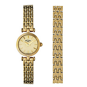 Rotary Ladies' Gold Plated Bracelet Watch - Product number 9552952