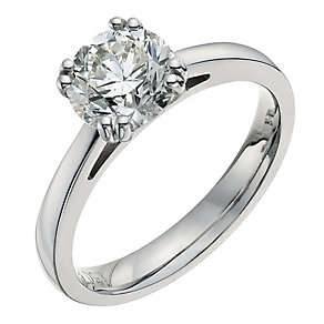 18ct white gold one and a half carat solitaire ring - Product number 9555374
