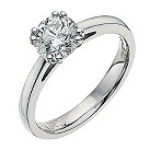 18ct white gold one carat solitaire ring - Product number 9555501