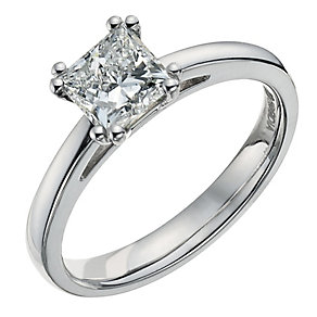 18ct white gold one carat solitaire ring - Product number 9555633