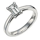 18ct white gold one carat solitaire ring - Product number 9557121