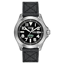 Citizen Eco Drive Royal Marines Men's Black Strap Watch - Product number 9561145