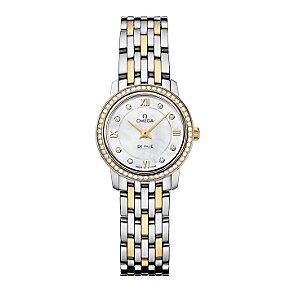 Omega De Ville ladies' two colour diamond bracelet watch - Product number 9561331