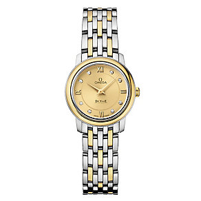 Omega De Ville ladies' two colour diamond set bracelet watch - Product number 9561374