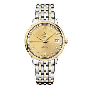 Omega De Ville ladies' two colour diamond bracelet watch - Product number 9561382