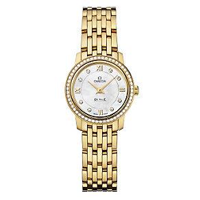 Omega De Ville ladies' 18ct gold diamond bracelet watch - Product number 9561447