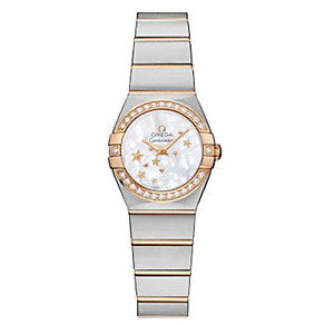 Omega Constellation ladies' two colour star bracelet watch - Product number 9561498