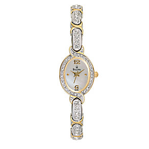 Bulova Ladies' Two Colour Vintage Crystal Set Bracelet Watch - Product number 9562087