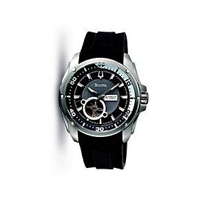 Bulova Men's Mechanical Black Strap Watch - Product number 9562354