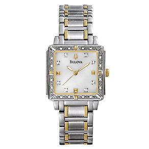 Bulova Ladies' Stone Set Two Colour Bracelet Watch - Product number 9562397