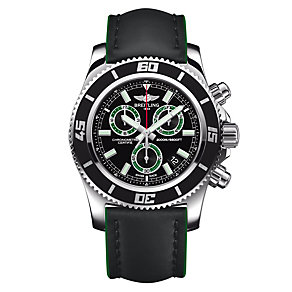 Breitling Superocean Chronograph II men's green strap watch - Product number 9562974
