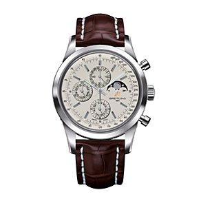 Breitling Transocean Chronograph men's brown strap watch - Product number 9563083