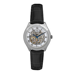 Rotary Jura Men's Stainless Steel Skeleton Strap Watch - Product number 9563946