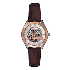 Rotary Jura Men's Two Colour Skeleton Strap Watch - Product number 9563954