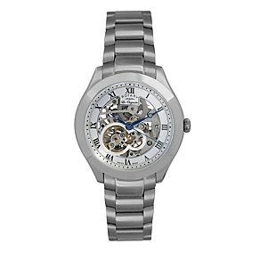 Rotary Jura Men's Stainless Steel Skeleton Bracelet Watch - Product number 9563989