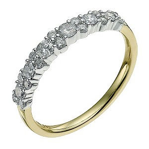 18ct white & yellow gold 1/2 ct diamond eternity ring - Product number 9564152