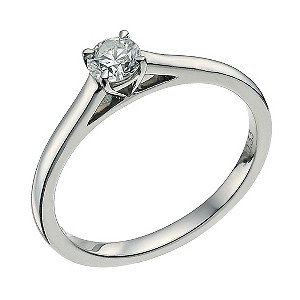 Palladium 950 1/3 carat diamond solitaire ring - Product number 9565191