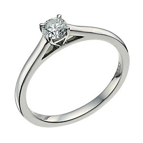 Palladium 950 0.33ct diamond solitaire ring - Product number 9565191